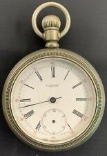 Silver Pocket Watch Antique Waltham Nickel