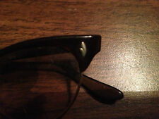 Vintage VOC Unisex Brown Catseye Frame With Small Gold Embellishments