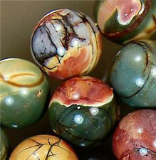 """NATURAL 10MM MULTICOLOR PICASSO JASPER GEMSTONE ROUND BALL LOOSE BEADS 15"""""""