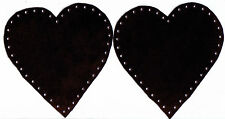 VANDYKE BROWN - HEART  SHAPED - 100% SUEDE - ELBOW PATCHES