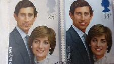 FIRST ISSUE COINS BRITISH COMMEMORATIVE HRH PRINCE OF WALES LADY DIANA SPENCER
