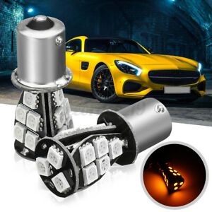 2x 581 Py21w Bau15s 1156 18smd Led Light Amber Turn Signal Indicator Bulb