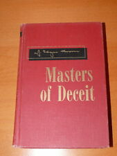 Masters of Deceit - J Edgar Hoover- 1961 - Signed Copy