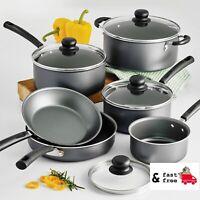 10 Piece Cookware Set Non Stick Pots and Pans Lids Cooking Home Kitchen