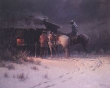 """Published In 1974 - G. Harvey """"Winter Flurries""""  image size 25.5"""" x 19.75"""""""