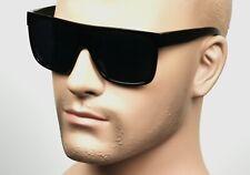 Large Square Cholo Sunglasses Super Dark OG LOC Gangster Black Glossy C1SMK
