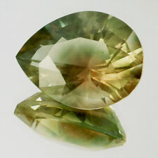 OREGON SUNSTONE GOLDEN YELLOW / LIGHT GREEN AND PEACH FLASHES 8.25 CT SEE VIDEO