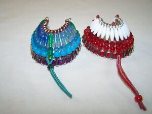 Vintage hand made Indian style hair ties hair bobs