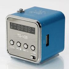 Mini V26 with USB TF Speaker Music Player FM Radio PC Mp3 Blue