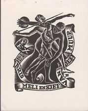 ex-libris par JAAP KUIJPER 1947 (corps entrelacés)