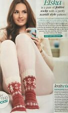 KNITTING PATTERN Ladies Fair Isle Socks Scandi Boy Girl Design Christmas PATTERN