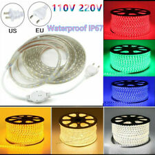 110V 220V Waterproof LED Strip SMD 5050 60leds/m Flexible Tape Rope Light 1-20M