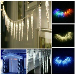 LED Frozen Icicle String Lights Fair Lights Indoor Outdoor Festival Garden Lamp