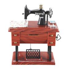 Vintage Mini Sewing Machine Style Music Box Mechanical Table Decor Birthday Gift