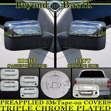 2004-2014 FORD F150 Chrome Door Handle(2k,noKP)+Gas Door+MirrorH+TailgateC Cover
