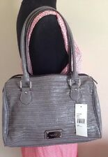 ..NINE WEST GRAY  VERY ORGANIZED BOX STYLE  HANDBAG JUsT In