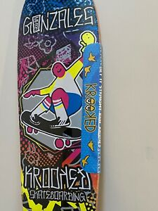 """Krooked Stingray William Gonzales (Gonz's son) limited edition deck 9.5"""" x 29.5"""""""