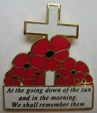 50 X at the going down of the sun poppy lapel badge british army remember them