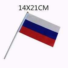 USSR Russian Federal HELD STICK Small FLAGS Hand Table Flag Festivals CCCP 5pcs