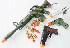 4X Toy Guns Military AR-15 Dart Rifle & 3x 9MM Pistol Cap Gun SBC