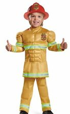 FEARLESS FIREMAN MUSCLE TODDLER HALLOWEEN COSTUME SIZE L 4T-6T