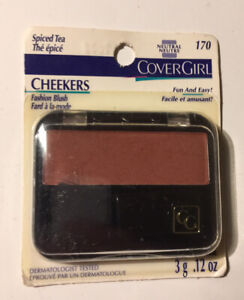 Vintage Cover Girl Cheekers Fashion Blush Spiced Tea 170 NOS USA