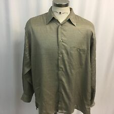 ST CROIX Mens Extra Large XL Long Sleeved Button Front Shirt Tan