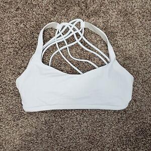 Lululemon Free To Be Bra (Wild) Size 6 White Criss Cross Strappy Bra