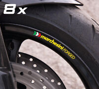 Marchesini wheel decals rim stickers set Ducati 848 1098 1198 Monster