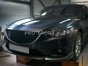 Fangs front lip bumper spoiler splitter Atenza Mazda 6 2012 2013 2014 2015 3pcs