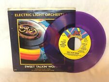 """Electric Light Orchestra Sweet Talkin' Woman Purple Vinyl 7"""" Record Picture ELO"""