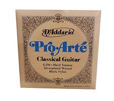 D'Addario EJ50 Pro-Arte Black Nylon Classical Guitar Strings, Hard Tension