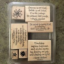 Stampin Up Friendship Flowers Set Inspirational Quotes Churchill Success Set 7
