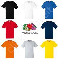 Fruit of the Loom Mens Womens FOTL Heavy 100% Cotton Blank Plain Tee T-Shirt
