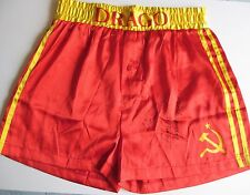 DOLPH LUNDGREN SIGNED OFFICIAL IVAN DRAGO TRUNKS DCCOA ROCKY IV I MUST BREAK YOU