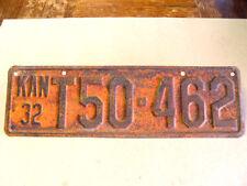 ANTIQUE 1932 KANSAS AUTOMOBILE LICENSE TAG/PLATE T50-462