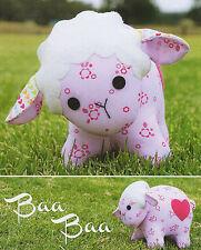BAA BAA - Sewing Craft PATTERN - Cloth Rag Doll Lamb Sheep