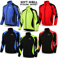 Cycling Jacket Soft Shell Winter Thermal Fleece Windproof Long Sleeve Bike Coat
