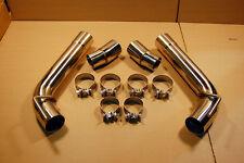 2010-2015 Chevy Camaro Axle Back Muffler DELETE v6 v8 Stainless Steel Loud Pipes