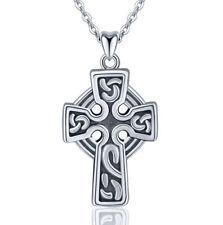 M044 Anhänger keltisches Kreuz Kelten Sterling Silber 925