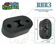 "RHR3 Exhaust Mount Rubber Insulator Grommet Hanger Bushing 1/2"" Rod Support"