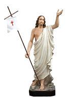 STATUA GESU' RISORTO - JESUS RISEN STATUE CM. 85 - 34 inch RESINA POLYESTER