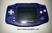 Nintendo Game Boy Advance GBA Glacier Clear Purple