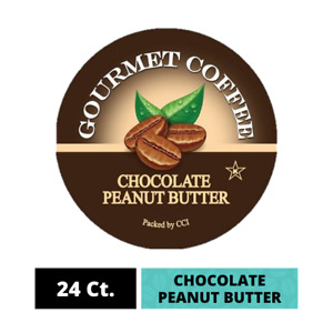 Chocolate Peanut Butter Coffee Pods, 24ct Single Serve K Cups for Keurig Brewers