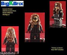 BLACK SIREN DC Custom Printed LEGO Minifigure NO Decals Used!