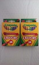 Crayola Crayon Box, Assorted Colors, 24 count, for kids (pack of 2)
