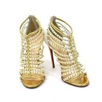Auth Christian Louboutin Gladiator Sandals Gold Stud Size EUR 37.5 Used Japan