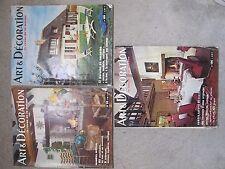 Art & Décoration - Lot de 3 numéros - Années 60