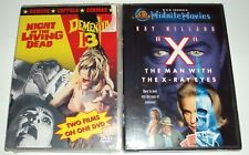 Night of the Living Dead/Dementia 13/Man With The X-Ray Eyes 3 Movies Dvds New