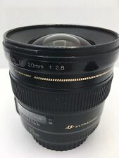 Canon Ultrasonic EF 20mm Fixed Wide Angle f2.8 USM Lens (Black)